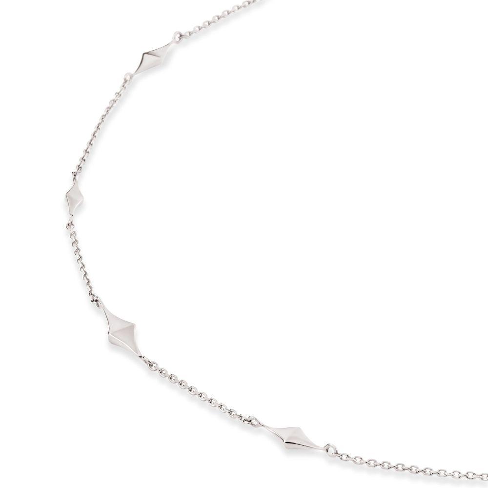 Diamond Shape Sterling Silver Necklace