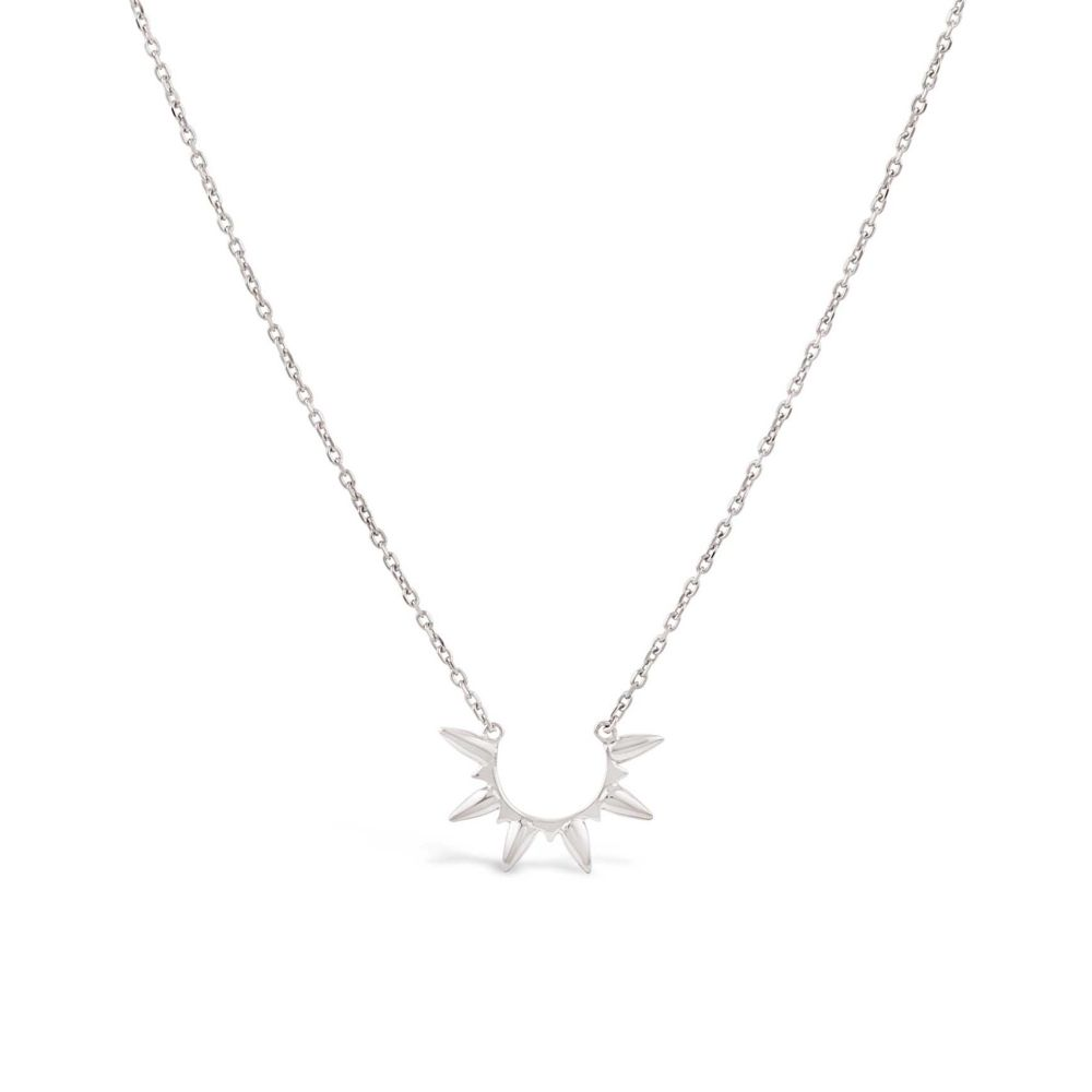 Sterling silver necklace in the shape of sunbeam