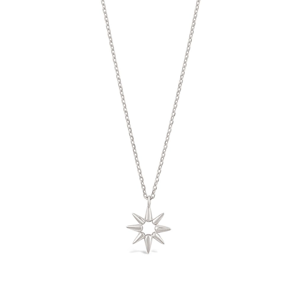 Sterling Silver necklace in shape of sun beam