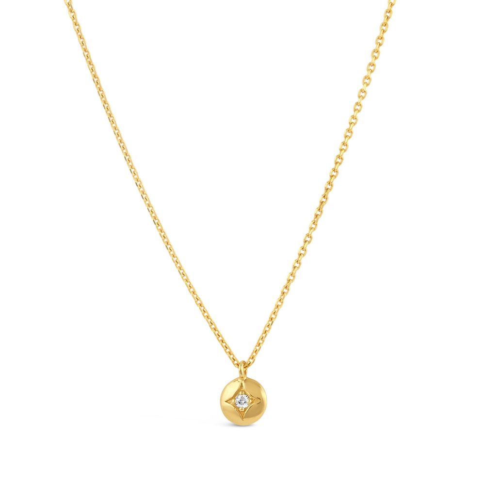 Dinny Hall Mini Diamond Disc Pendant