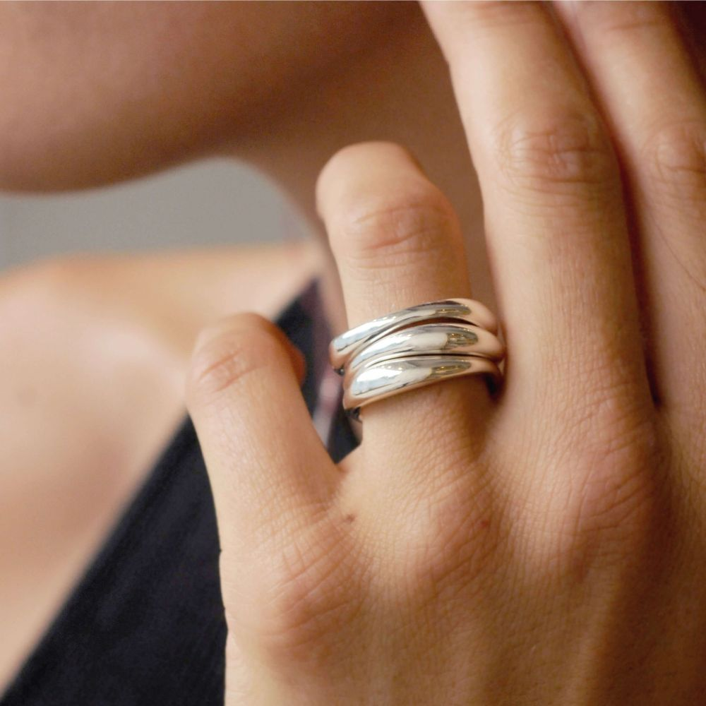 Sterling Silver Simple Stacking Rings