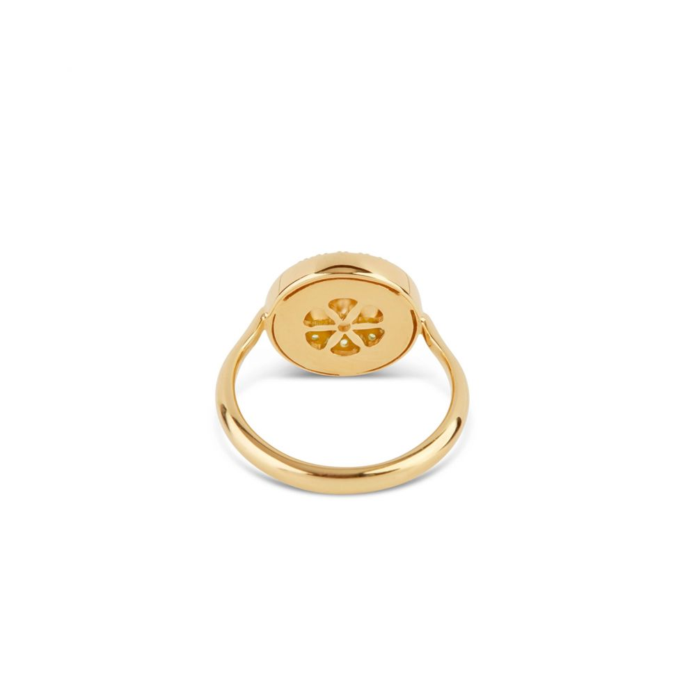 Dinny Hall Halo Pinky Ring in 22k Yellow Gold Vermeil