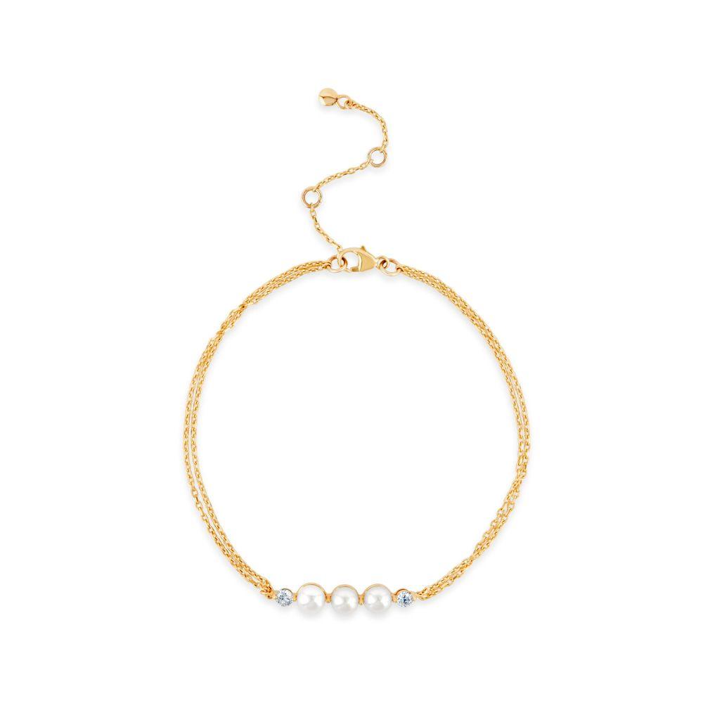 Dinny Hall Shuga 14k Gold Pearl And Diamond Wristlet