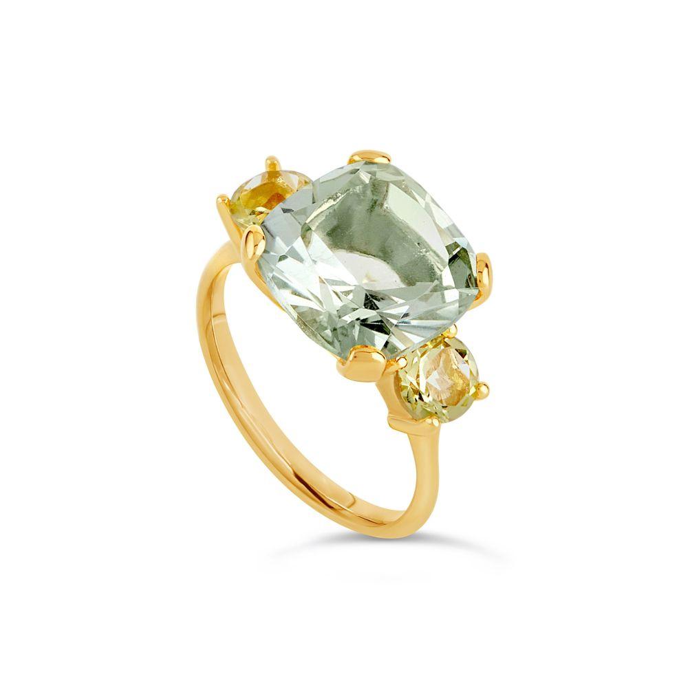 Teresa Yellow Gold Vermeil Cocktail Ring