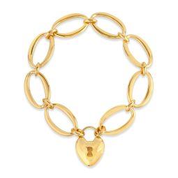Handmade large oval link chain bracelet