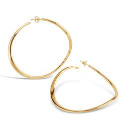 Large Hoop Earring in Gold Plate