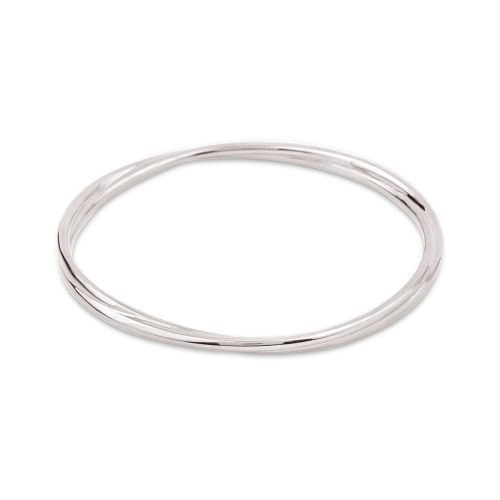 Twist Bangle in Sterling Silver