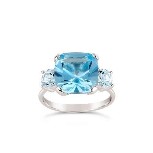 Teresa Swiss and Sky Blue Topaz Ring