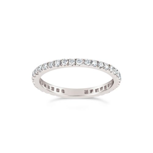 Platinum Micro Set Full Eternity Ring
