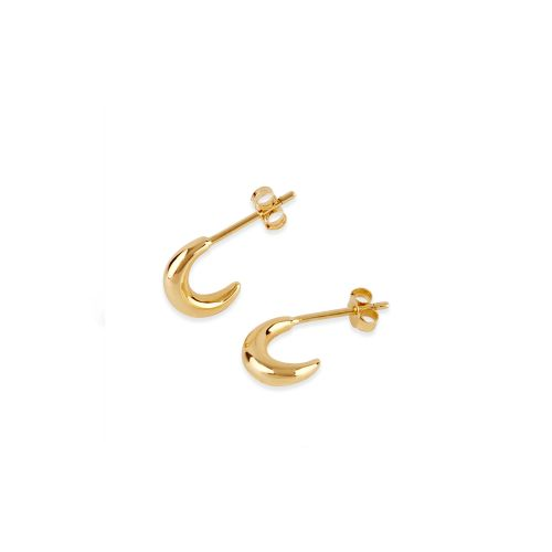 Dinny Hall Bijou Yellow Gold Vermeil Crescent Mini Hoop Earrings