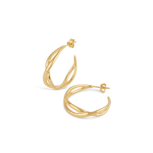 Dinny Hall Twist Small Open Hoop Earrings