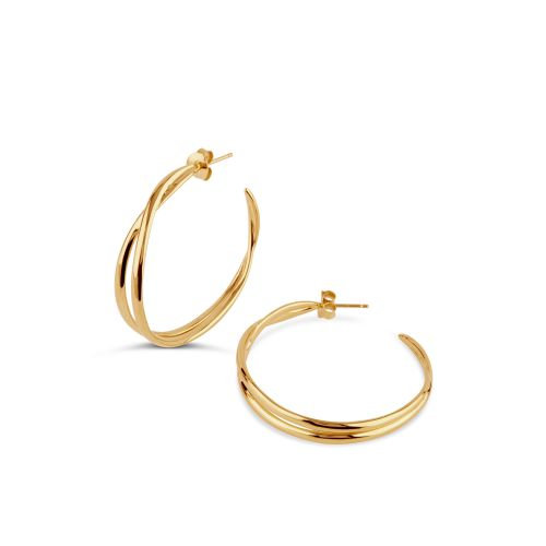 Dinny Hall Twist Medium Double Hoop Earrings