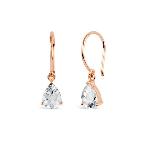 Gem Drop Earrings with White Topaz