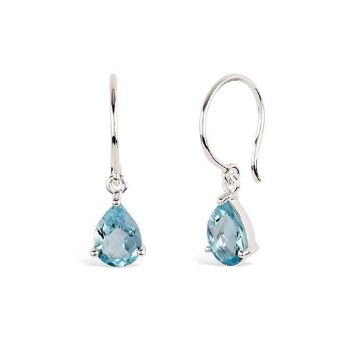Gem Drop Earrings with Sky Blue Topaz