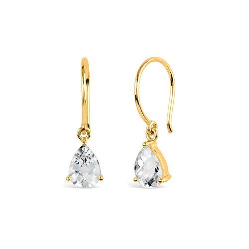Gem Drop Earrings With White Topaz