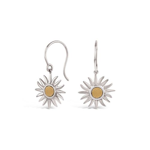 My World Sun Charm Drop Earrings