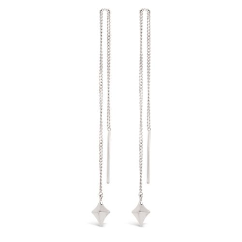 Sterling Silver Long Drop Earrings