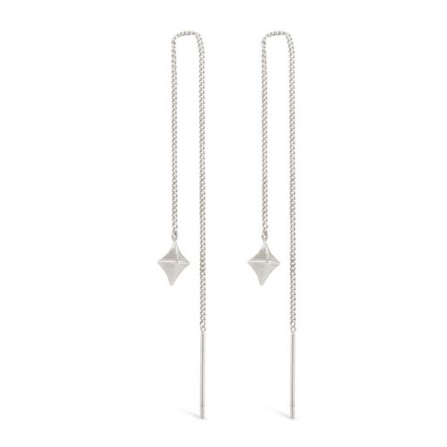 Sterling Silver Long Drop Earrings