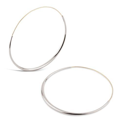 Large Sterling Silver Hoops Earrings