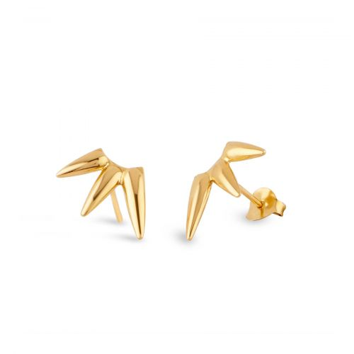 Sunbeam studs in gold plate