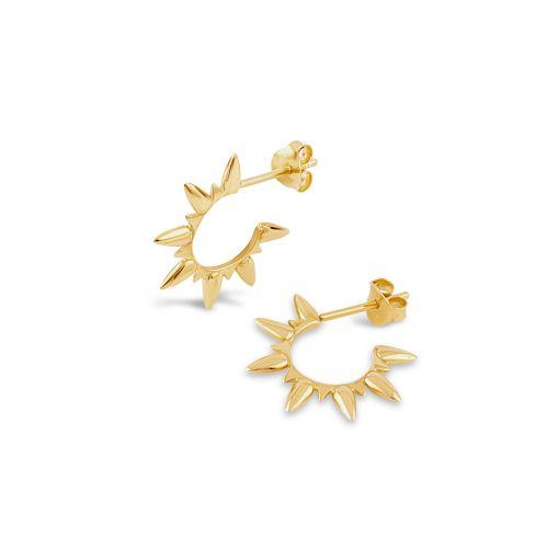 Sunbeam Hoop Earrings in gold plate