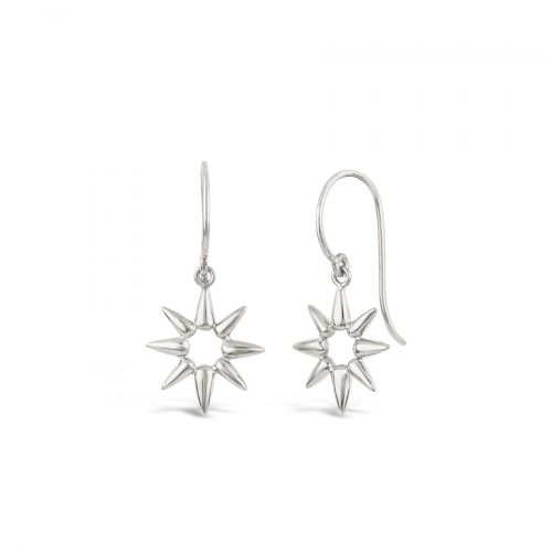 Sterling silver Earring in shape of sun beam