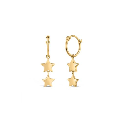 Bijou Duo Star Hoop Earrings