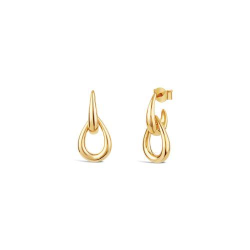Raindrop Double Link Stud Earrings
