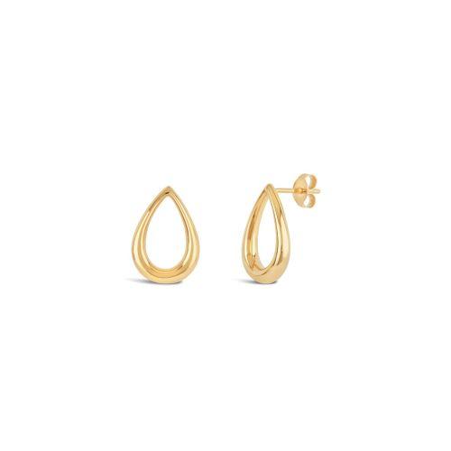 Large Raindrop Stud Earrings