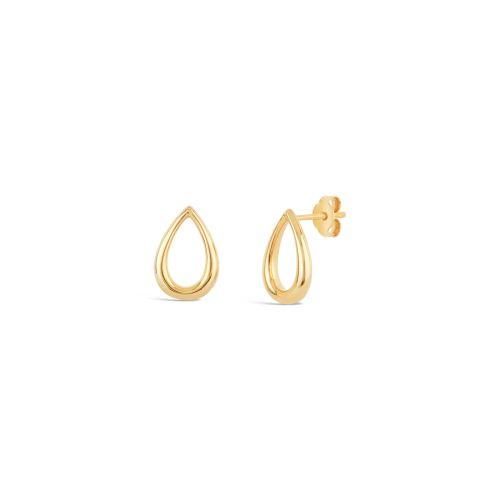 Medium Raindrop Stud Earrings