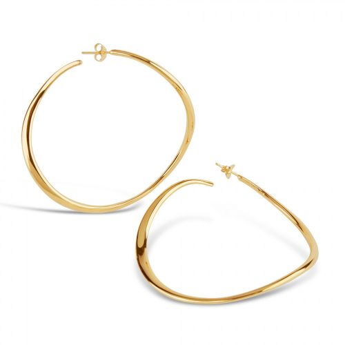 Large Hoop Earring in Gold Plate