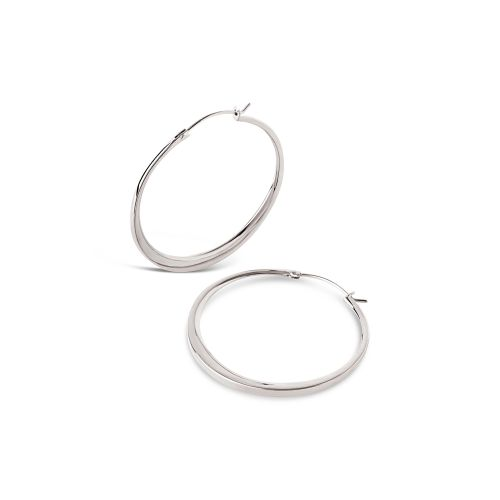 Signature Medium Tapering Click Hoop Earrings