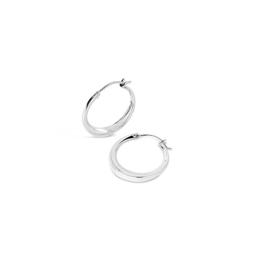 Sterling Silver Small Click Hoops