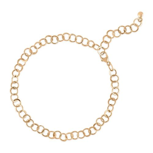 Planished 10 Karat Gold Bracelet
