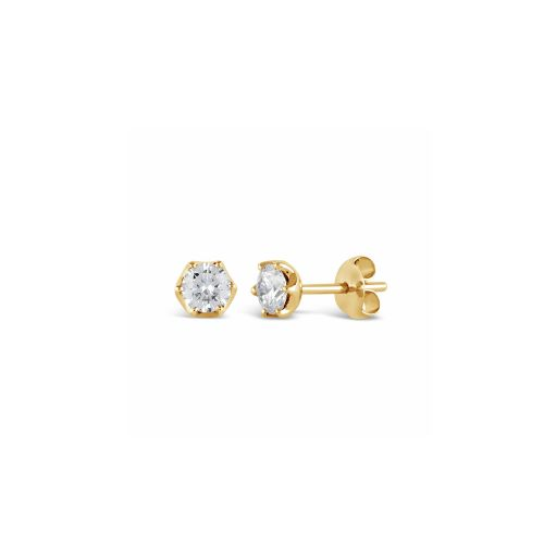 Elyhara 18k Yellow Gold Diamond Studs