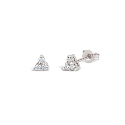 Dinny Hall Shuga 14k Mini Trillion Studs in White Gold