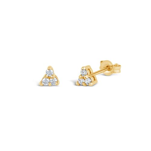 Shuga 14k Gold Mini Trillion Studs