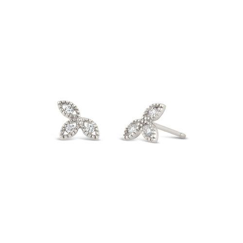 14k Diamond Jasmine Stud Earrings