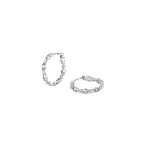 14k Diamond Jasmine Click Hoops
