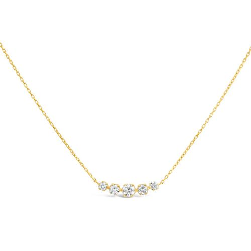 Elyhara 14k Gold Diamond Scoop Necklace