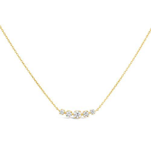 Elyhara 14k Gold Diamond Scoop Necklace