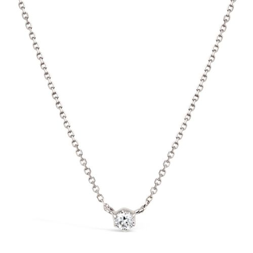 Elyhara 18k White Gold 0.11ct Diamond Pendant