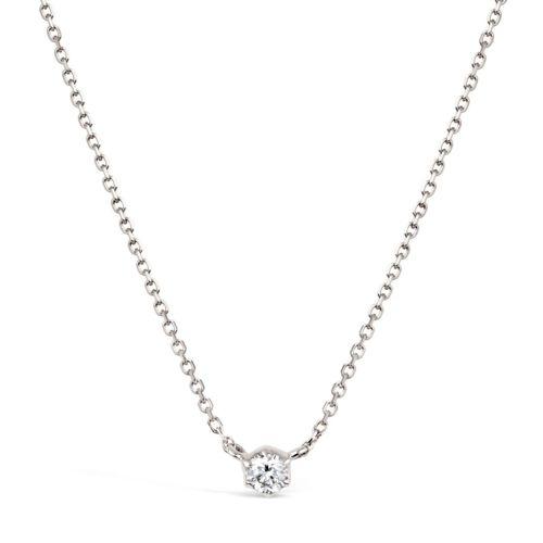 Elyhara 18k White Gold 0.11ct Diamond Pendant