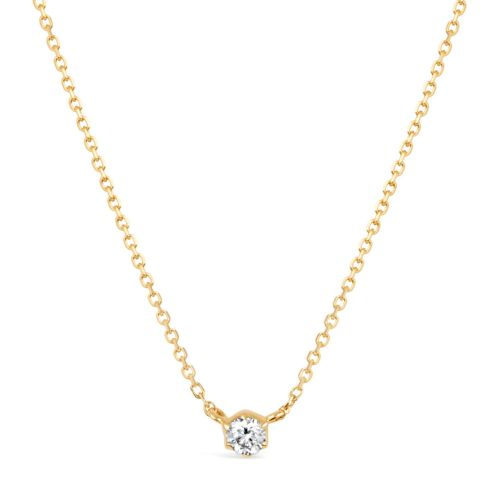 Elyhara 18k Yellow Gold 0.11ct Diamond Pendant