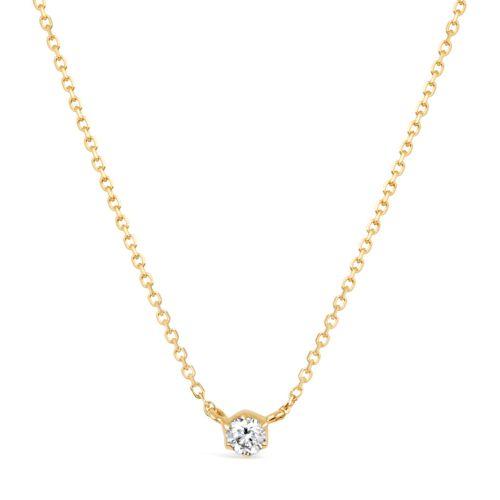 Elyhara 18k Yellow Gold 0.11ct Diamond Pendant