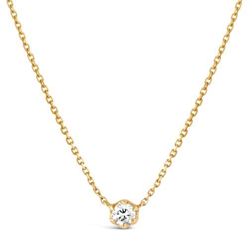 Elyhara 18k Yellow Gold 0.25ct Diamond Pendant