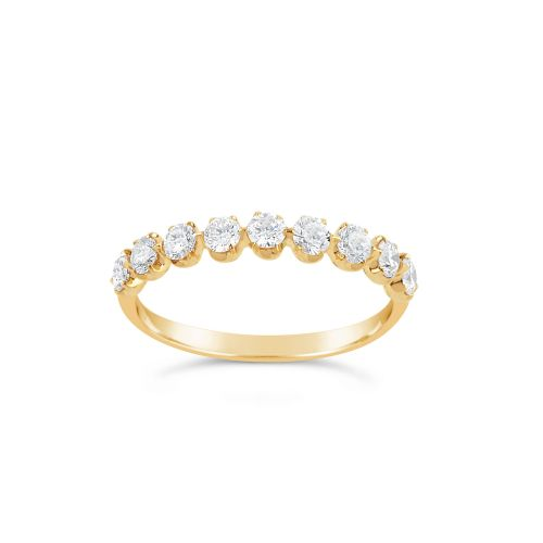 Elyhara 18K Gold Diamond Set Half Eternity Ring