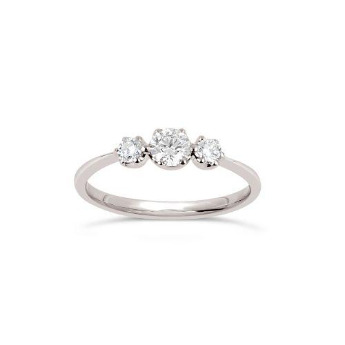 Elyhara 18K Gold Small Diamond Trilogy Ring