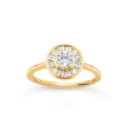 DInny Hall Ava 18K Brilliant and Carre Cut Diamonds
