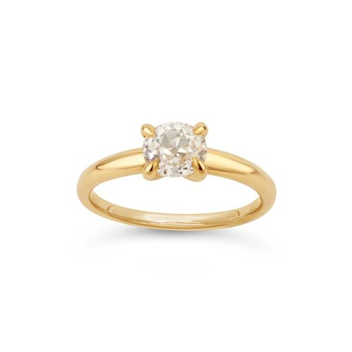 Yellow Gold Ring set with Old Cut Diamond